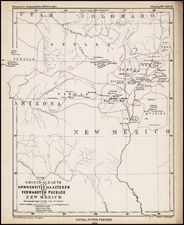 Southwest, New Mexico and Rocky Mountains Map By Augustus Herman Petermann