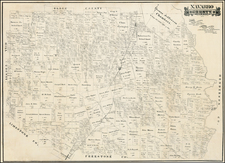 Texas Map By R.M.  Hall