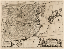 China, Japan, Korea, India, Southeast Asia, Philippines, Other Islands and Central Asia & Caucasus Map By Athanasius Kircher