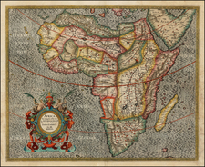 Africa and Africa Map By Gerard Mercator