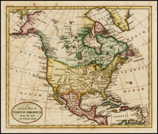 North America Map By William Guthrie