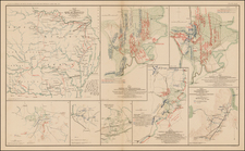 Mid-Atlantic, South, Plains and Southwest Map By Julius Bien & Co.