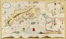 Caribbean and Virgin Islands Map By Gerard Van Keulen