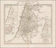 Holy Land Map By Jean-Baptiste Bourguignon d'Anville