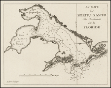 Florida, South and Caribbean Map By George Louis Le Rouge