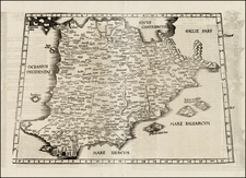 Spain and Portugal Map By Lorenz Fries