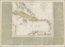 Caribbean Map By Girolamo Tasso