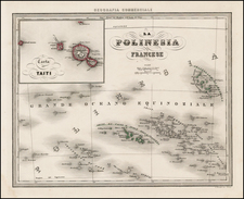 Australia & Oceania, Oceania and Other Pacific Islands Map By Francesco Marmocchi