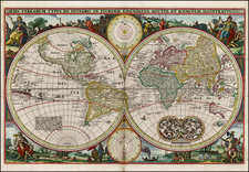 World and World Map By Nicolaes Visscher I