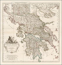 Greece Map By Jean-Baptiste Bourguignon d'Anville