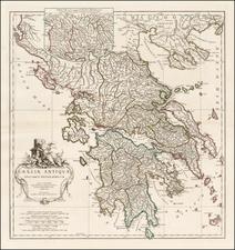 Greece Map By Jean-Baptiste Bourguignon d'Anville