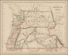 Rocky Mountains Map By Henry Darwin Rogers  &  Alexander Keith Johnston