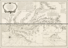 Mid-Atlantic and Southeast Map By George Louis Le Rouge / Anthony Smith