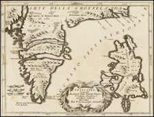 Polar Maps, Atlantic Ocean and Balearic Islands Map By Vincenzo Maria Coronelli
