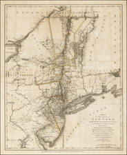 Mid-Atlantic Map By Claude Joseph Sauthier / Bernard Ratzer
