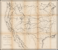 Texas, Plains, Southwest, Rocky Mountains and California Map By U.S. Pacific RR Surveys