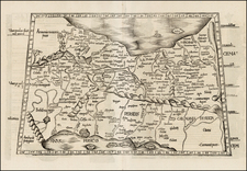 Central Asia & Caucasus and Middle East Map By Lorenz Fries