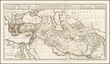 Balkans, Greece, Turkey, Central Asia & Caucasus, Middle East and Turkey & Asia Minor Map By Philippe Buache