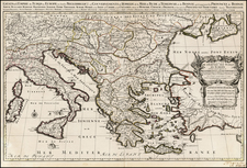 Greece, Turkey and Turkey & Asia Minor Map By Alexis-Hubert Jaillot
