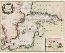 Russia, Baltic Countries and Scandinavia Map By Paul de Rapin de Thoyras / Nicholas Tindal
