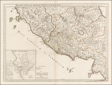 Italy Map By Philippe Buache