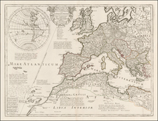 South America, Europe, British Isles, Mediterranean and America Map By Guillaume De L'Isle