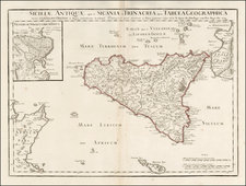 Italy and Sicily Map By Philippe Buache