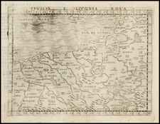 Poland and Baltic Countries Map By Giacomo Gastaldi