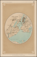 New York City Map By Henry Darwin Rogers  &  Alexander Keith Johnston