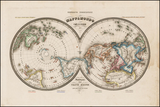 World, World, Northern Hemisphere, Southern Hemisphere and Polar Maps Map By Francesco Marmocchi