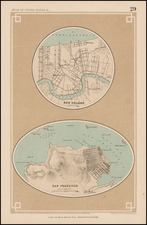 South and California Map By Henry Darwin Rogers  &  Alexander Keith Johnston