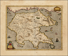Greece and Balearic Islands Map By  Gerard Mercator
