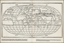 World and World Map By Benedetto Bordone