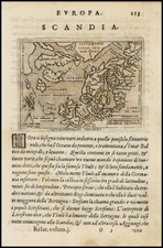 Atlantic Ocean, British Isles, Baltic Countries, Scandinavia, Canada and Balearic Islands Map By Giovanni Botero