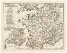 France Map By Jean-Baptiste Bourguignon d'Anville