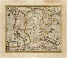 Balkans and Greece Map By  Gerard Mercator