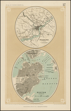 New England and Mid-Atlantic Map By Henry Darwin Rogers  &  Alexander Keith Johnston