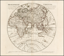 Eastern Hemisphere, Polar Maps, Australia & Oceania and Oceania Map By Philippe Buache