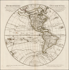 Western Hemisphere, Southern Hemisphere, Polar Maps, Alaska, Canada, South America, New Zealand and America Map By Philippe Buache