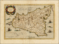 Italy and Sicily Map By  Gerard Mercator