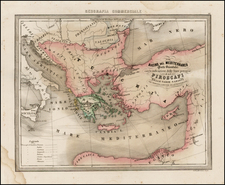 Balkans, Greece, Turkey, Mediterranean, Other Islands and Turkey & Asia Minor Map By Francesco Marmocchi