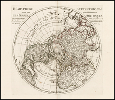 Northern Hemisphere, Polar Maps and Pacific Map By Philippe Buache