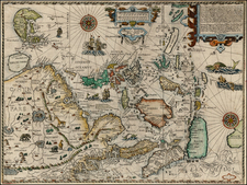 China, Japan, Korea, Southeast Asia and Philippines Map By Jan Huygen Van Linschoten / John Wolfe