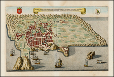 Atlantic Ocean, Portugal, Balearic Islands and African Islands, including Madagascar Map By Matthaus Merian