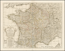 France Map By Philippe Buache