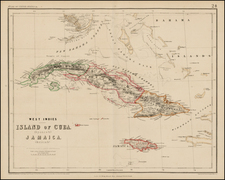 Caribbean and Central America Map By Henry Darwin Rogers  &  Alexander Keith Johnston