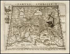 Mediterranean, North Africa and Balearic Islands Map By Giacomo Gastaldi