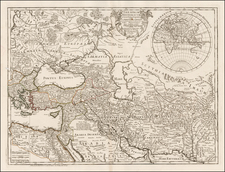 Russia, Greece, Turkey, Mediterranean, India, Central Asia & Caucasus, Middle East, Holy Land and Turkey & Asia Minor Map By Philippe Buache