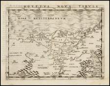 Egypt Map By Giacomo Gastaldi