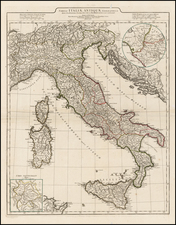 Balkans, Italy, Mediterranean and Balearic Islands Map By Jean-Baptiste Bourguignon d'Anville